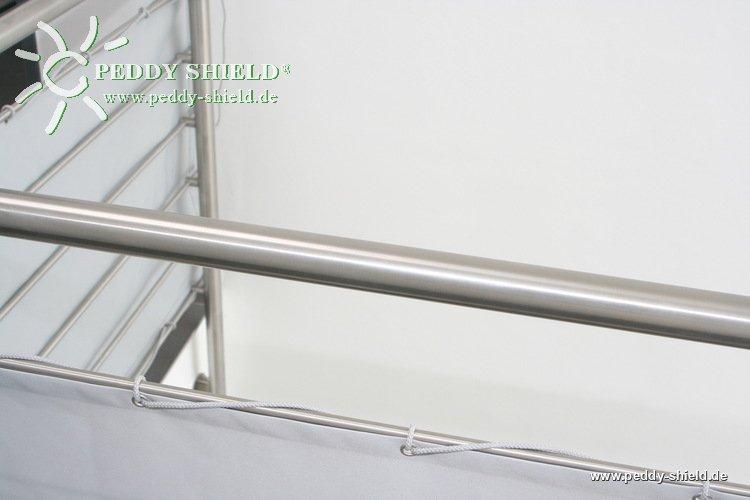 galerie photos brise vue pour balcons 75 x 500 cm couleur gris clair coupe vent pour balcon. Black Bedroom Furniture Sets. Home Design Ideas