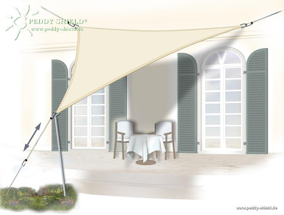 galerie photos voile d 39 ombrage triangulaire 3 60 m store ext rieur. Black Bedroom Furniture Sets. Home Design Ideas