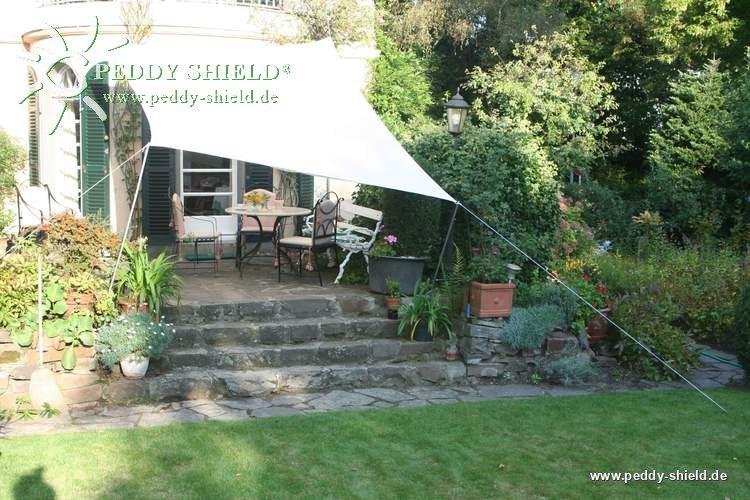 Application d une voile d ombrage rectangulaire dans le jardin - Voile d ombrage ikea ...