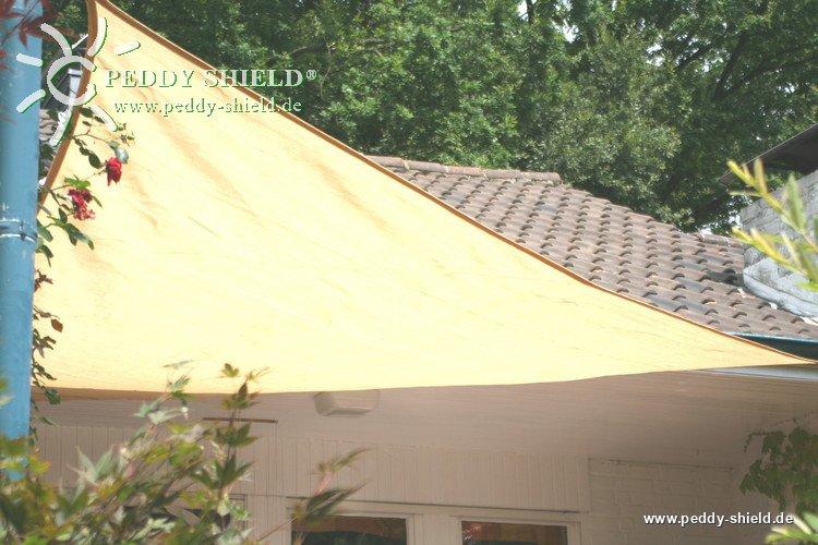 Toile solaire triangulaire 5 m store imputrescible tissu for Toile solaire piscine prix